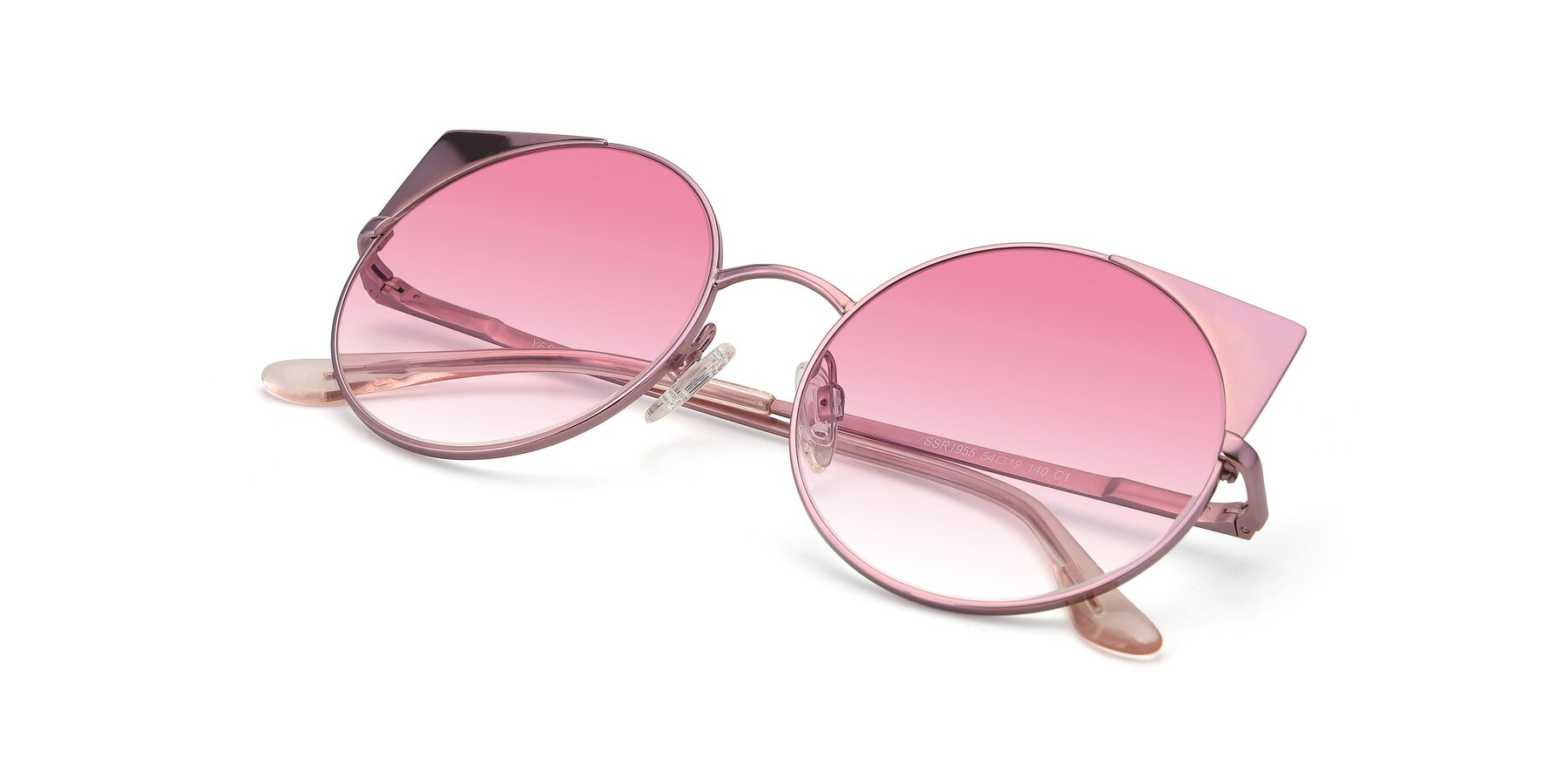 View of SSR1955 in Pink with Pink Gradient Lenses