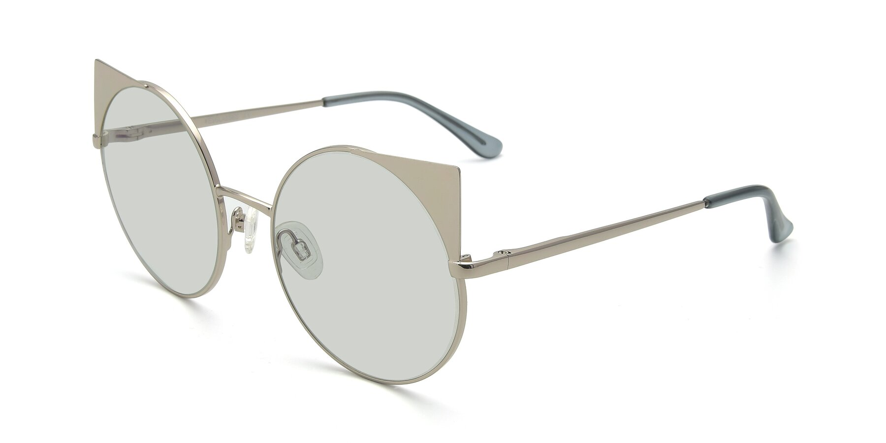 Angle of SSR1955 in Silver with Light Green Tinted Lenses
