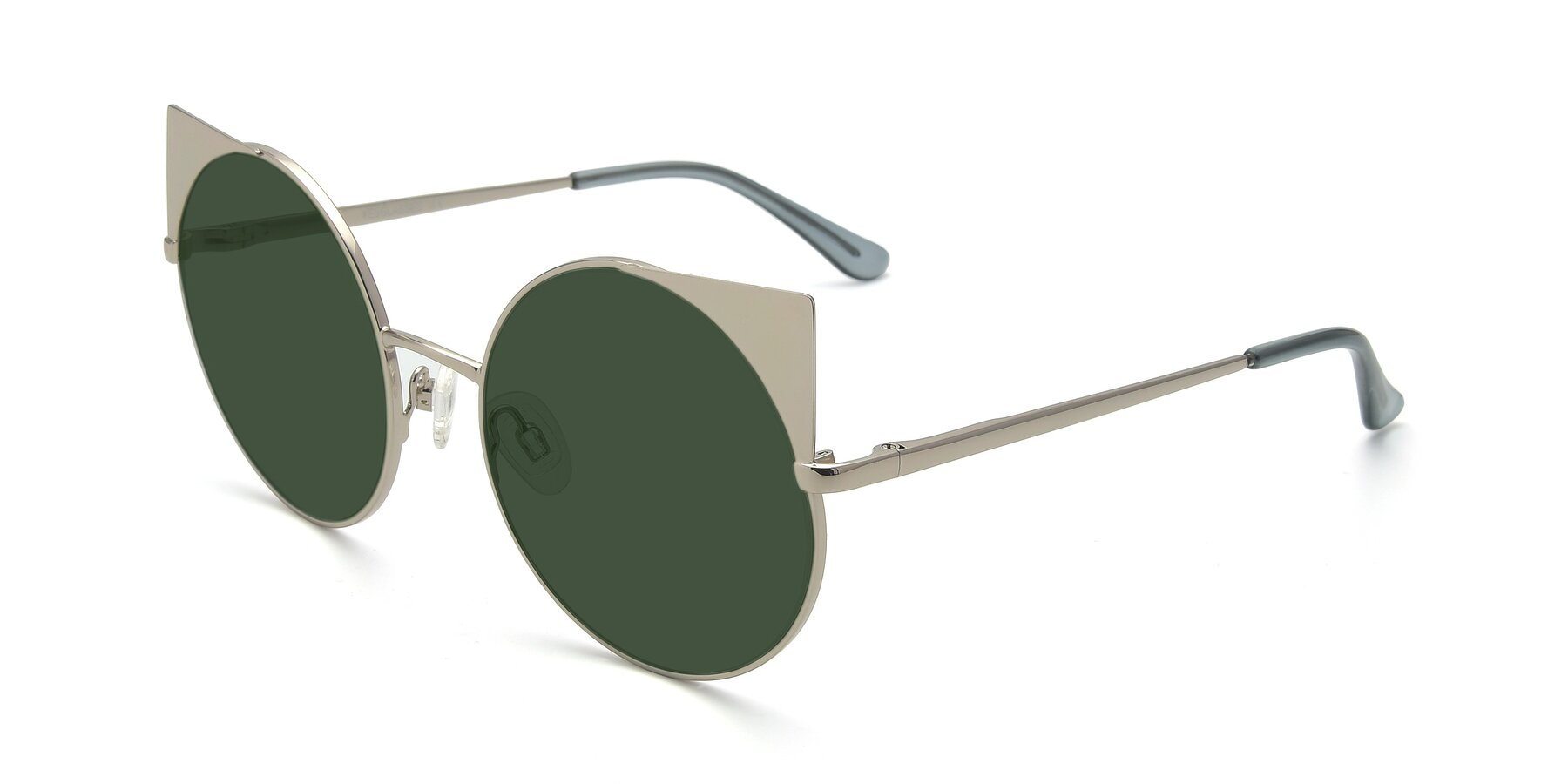 Angle of SSR1955 in Silver with Green Tinted Lenses