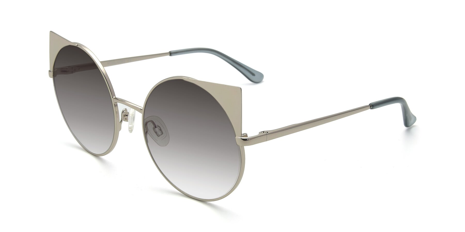 Angle of SSR1955 in Silver with Gray Gradient Lenses