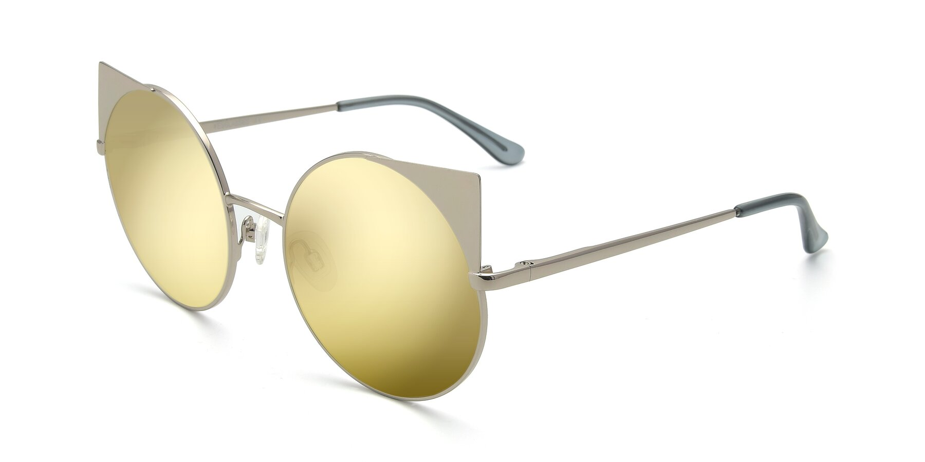 Angle of SSR1955 in Silver with Gold Mirrored Lenses