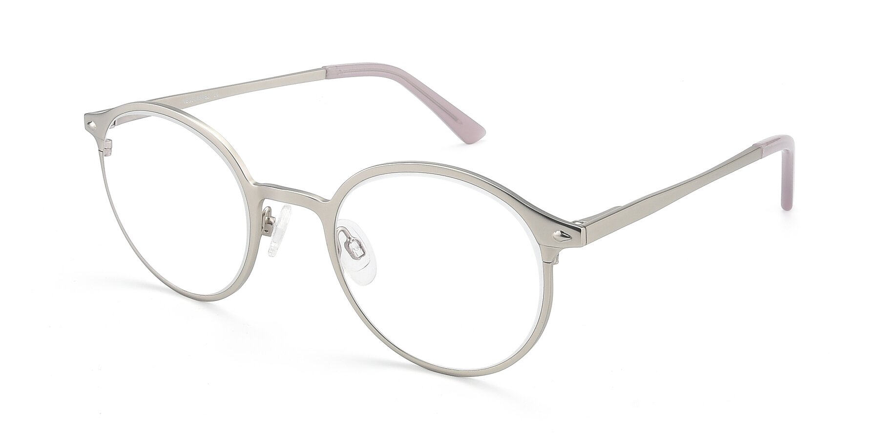 Angle of Twilight in Silver with Clear Eyeglass Lenses