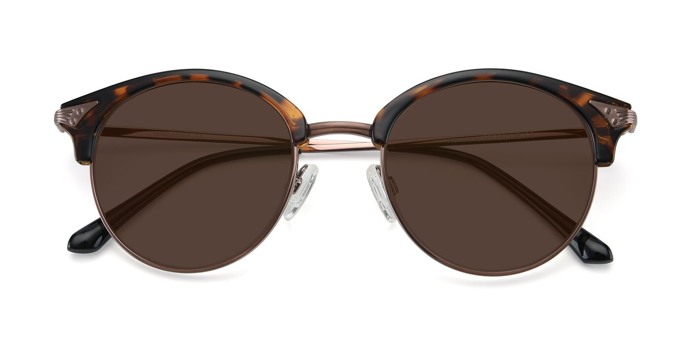 Hermione - Tortoise / Brown Tinted Sunglasses