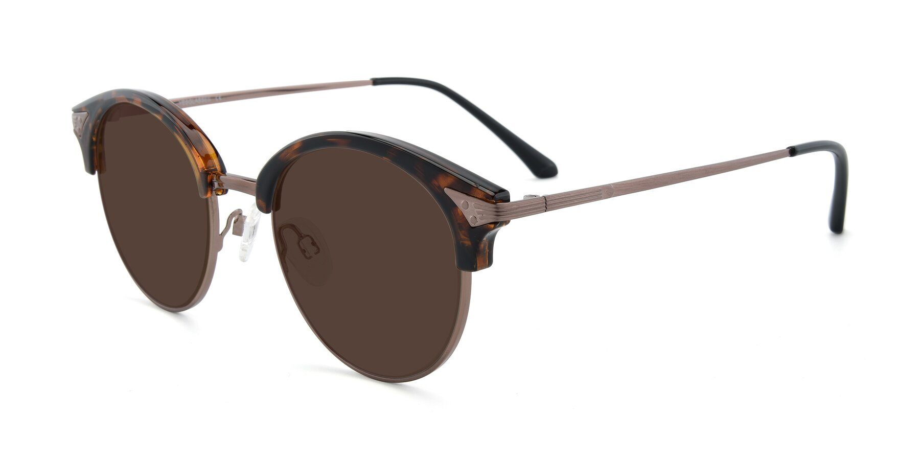 Angle of Hermione in Tortoise-Brown with Brown Tinted Lenses