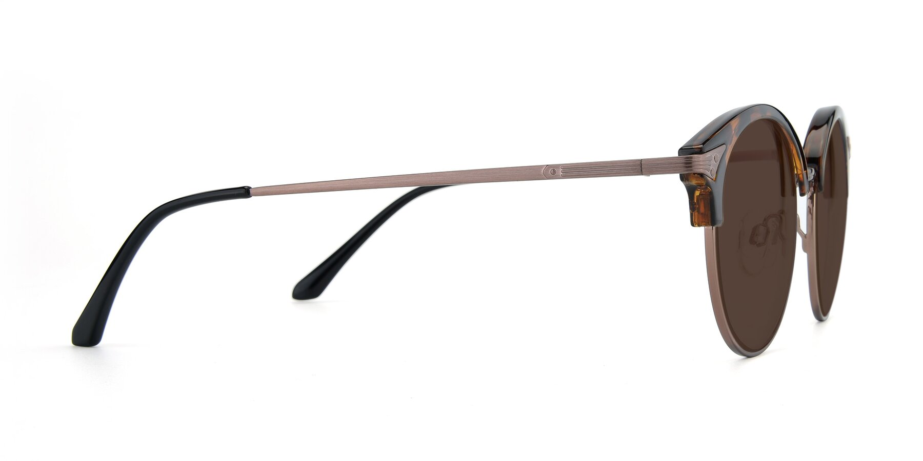 Side of Hermione in Tortoise-Brown with Brown Tinted Lenses
