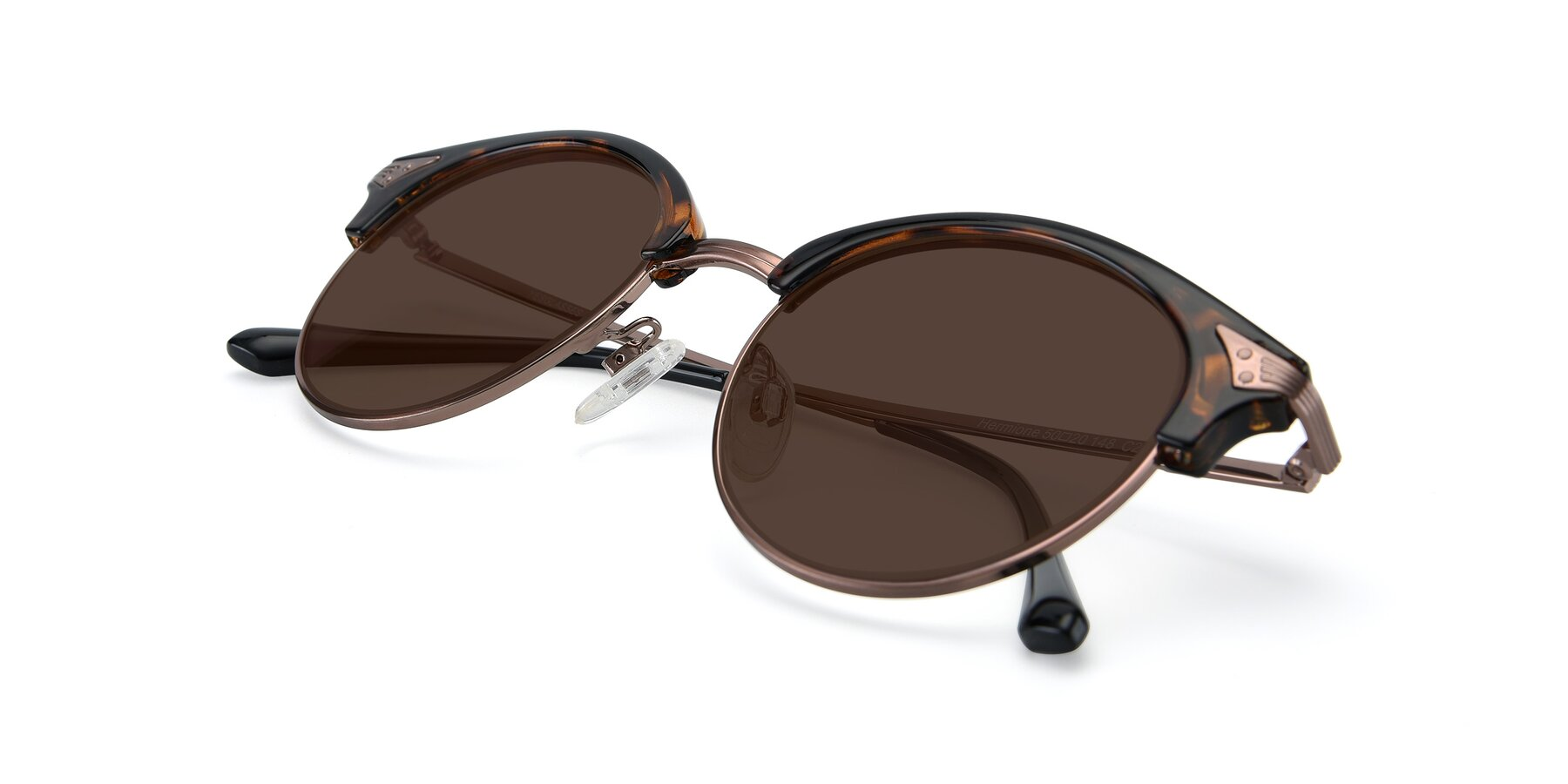 View of Hermione in Tortoise-Brown with Brown Tinted Lenses