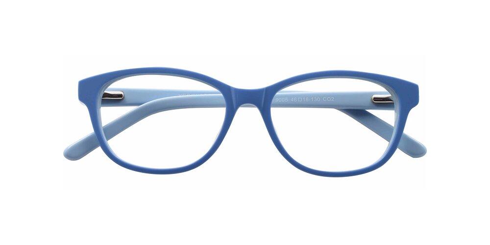 Blue Geek-Chic Acetate Square Full-Rim Anti-Blue Light Glasses
