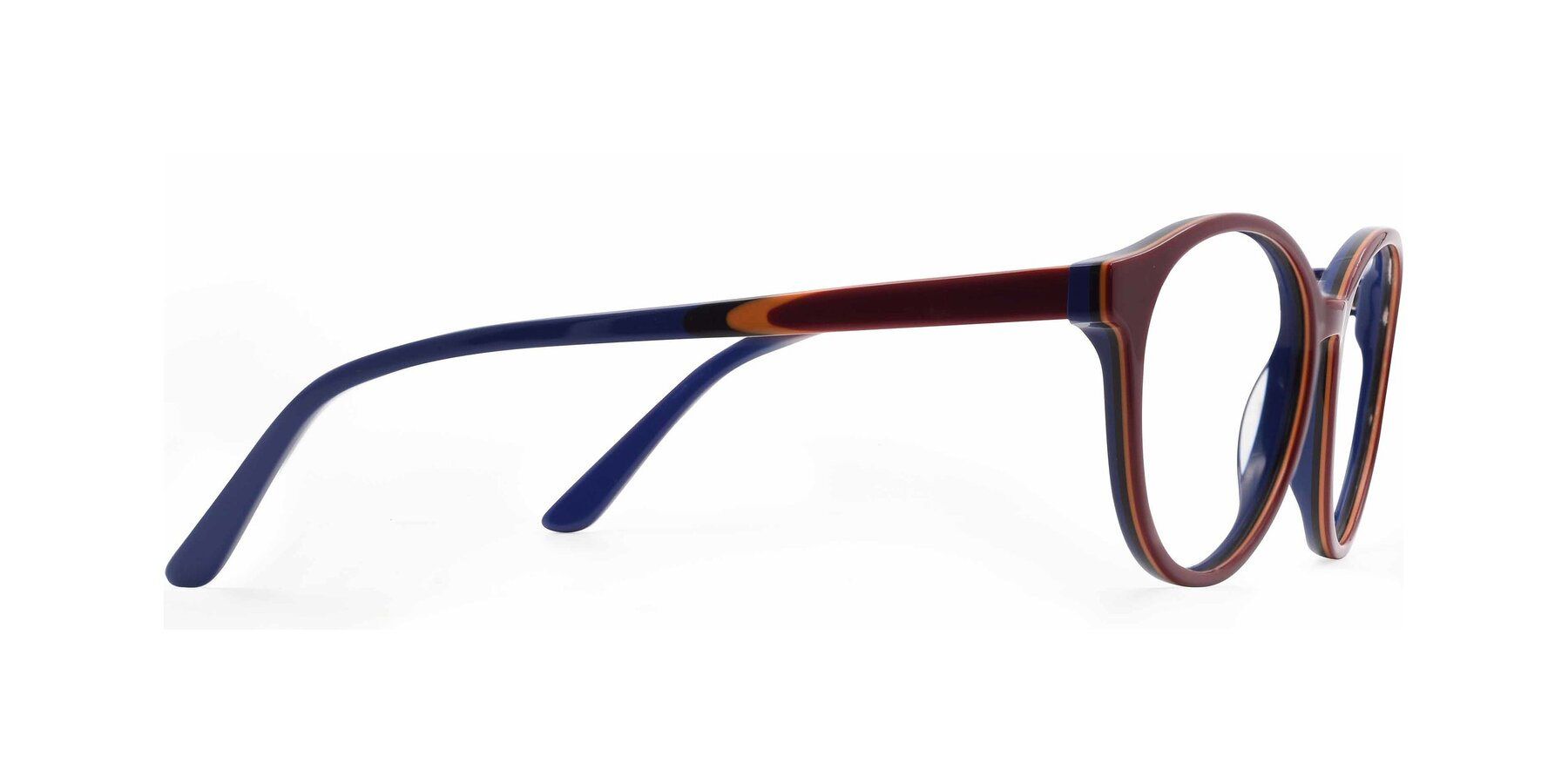 Side of 6195 in Wine with Clear Eyeglass Lenses