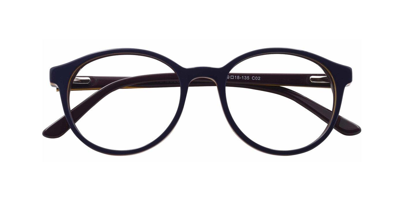 6195 - Navy Blue Light Glasses