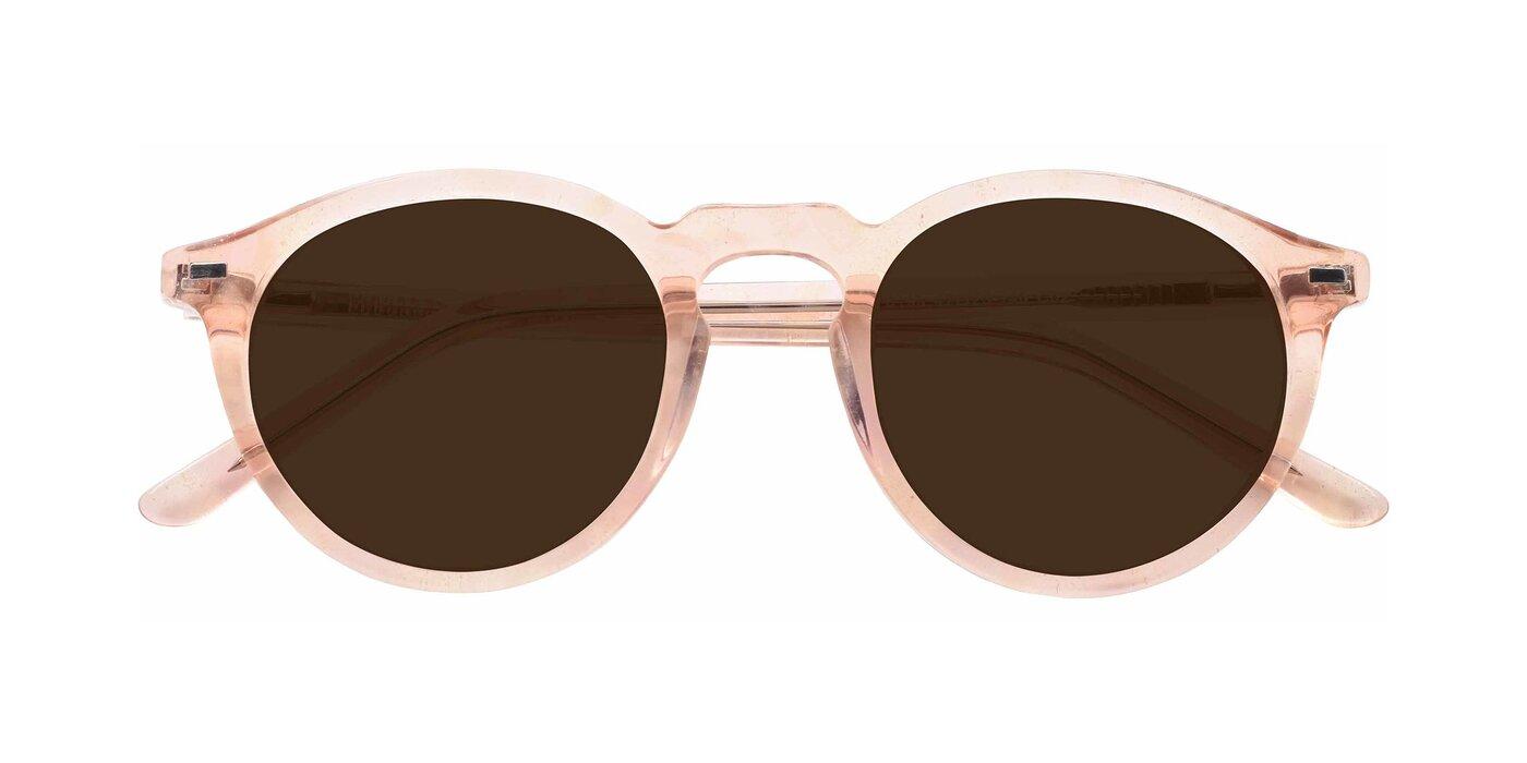 6199 - Translucent Pink Tinted Sunglasses