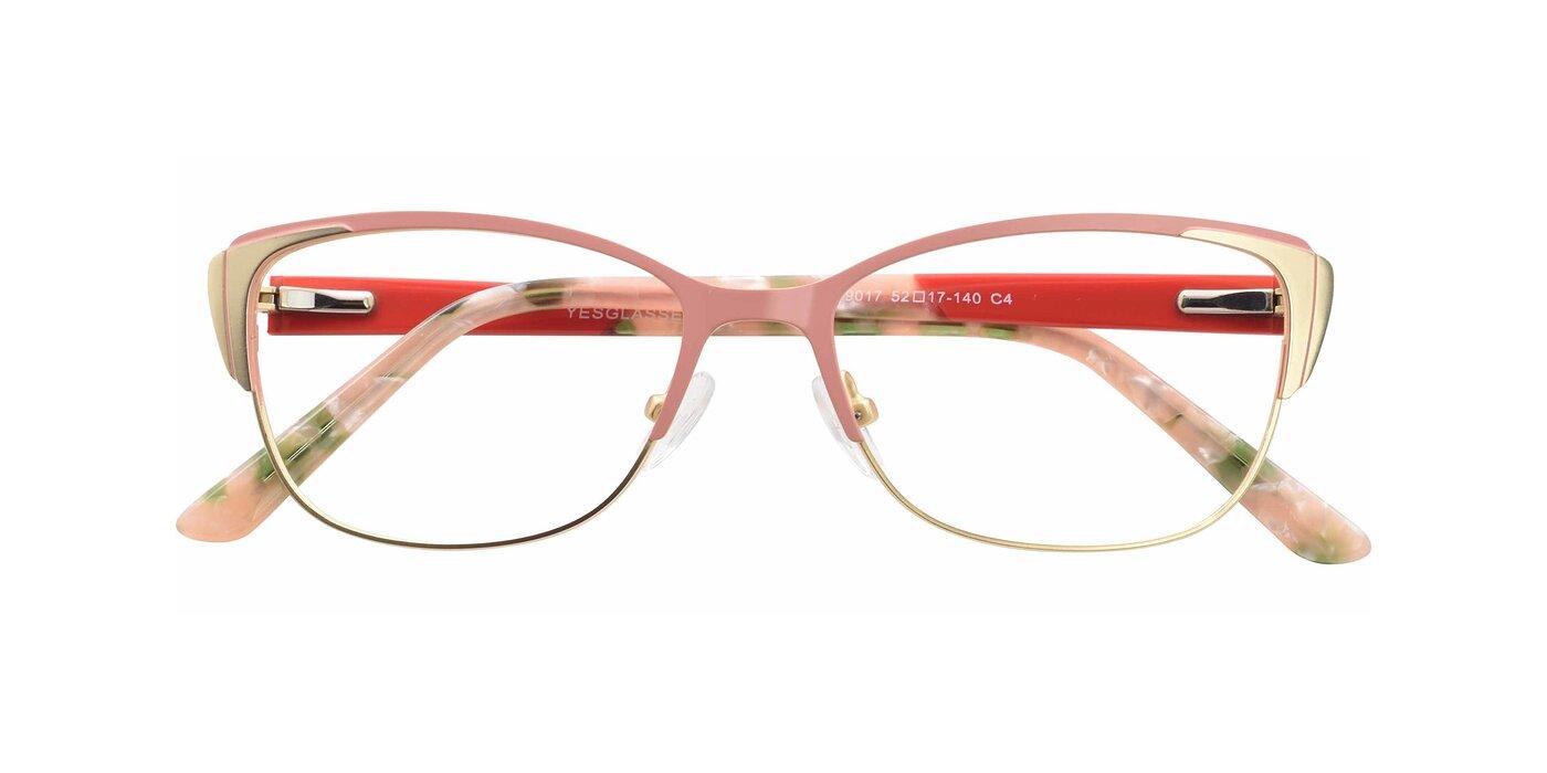 9017 - Pink / Gold Eyeglasses