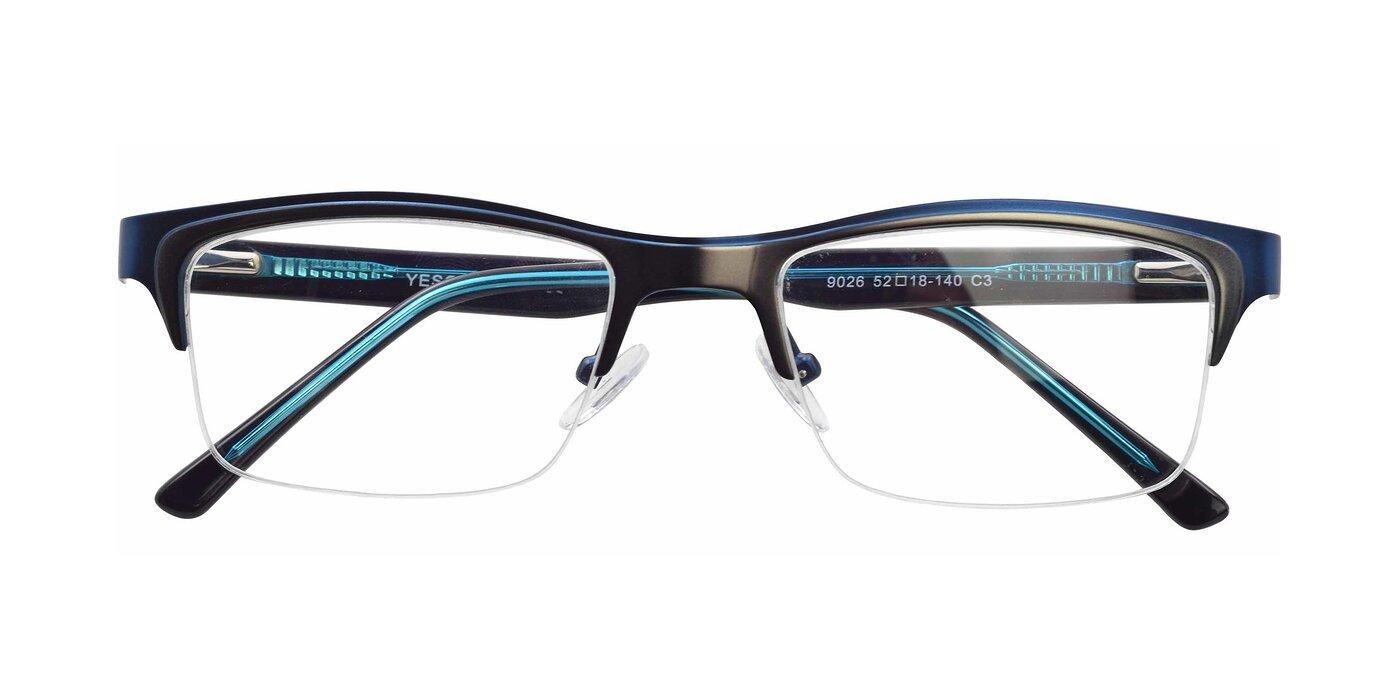 9026 - Blue / Gun Eyeglasses
