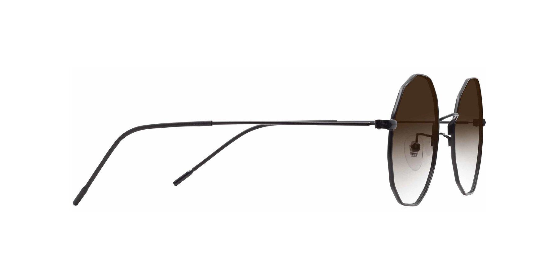 Side of Spyder in Black with Brown Gradient Lenses