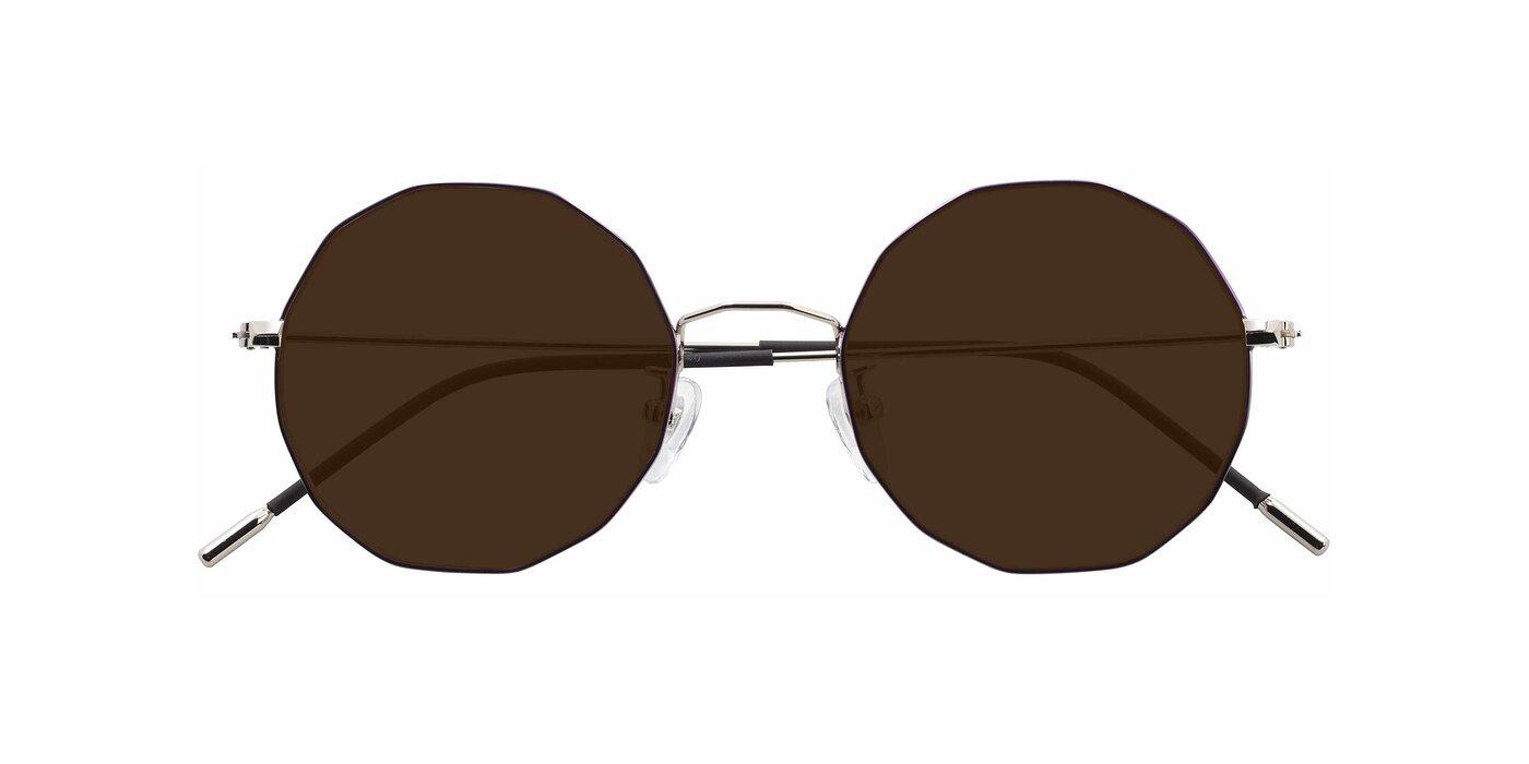 Spyder - Silver /  Purple Polarized Sunglasses