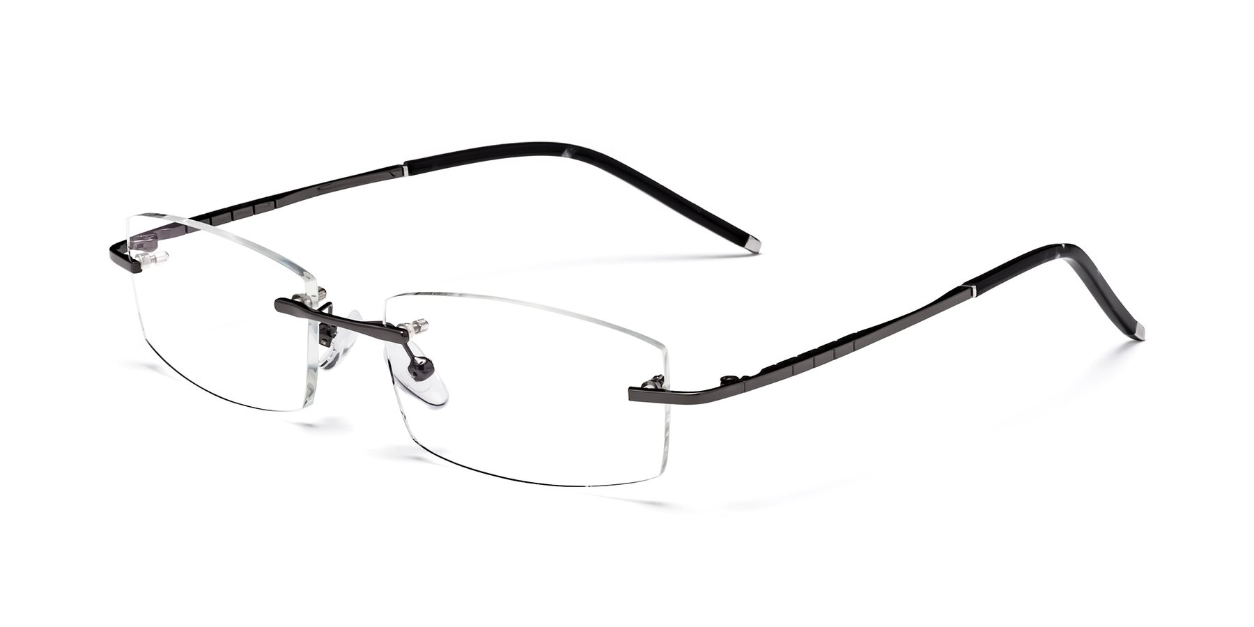 Angle of 58076 in Gunmetal with Clear Blue Light Blocking Lenses