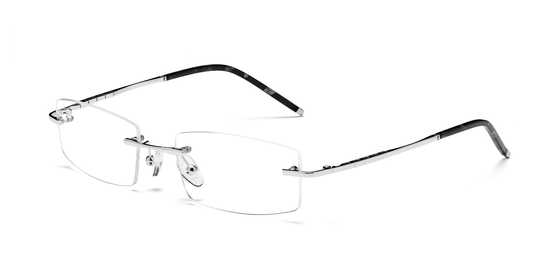 Angle of 58076 in Silver with Clear Eyeglass Lenses