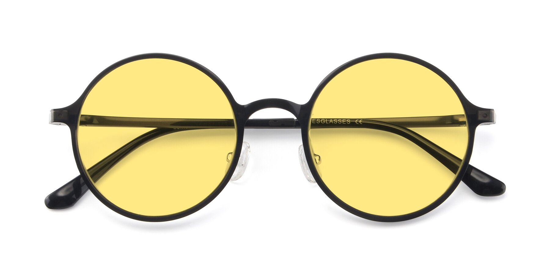 Folded Front of Lemon in Transparent Gray with Medium Yellow Tinted Lenses