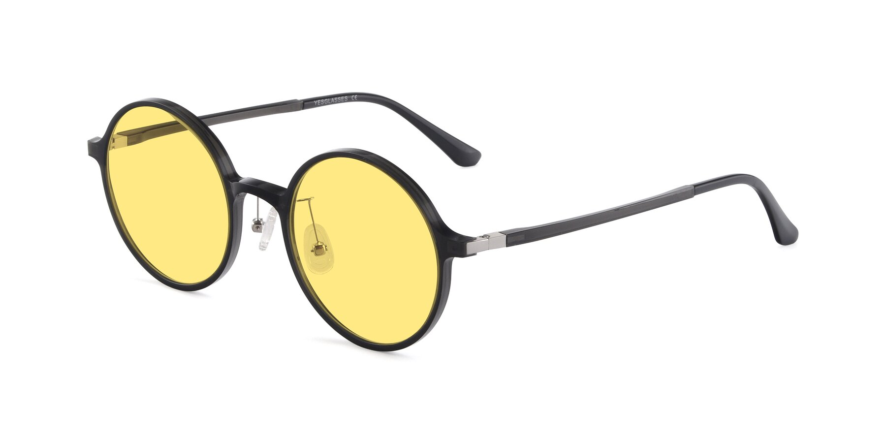 Angle of Lemon in Transparent Gray with Medium Yellow Tinted Lenses