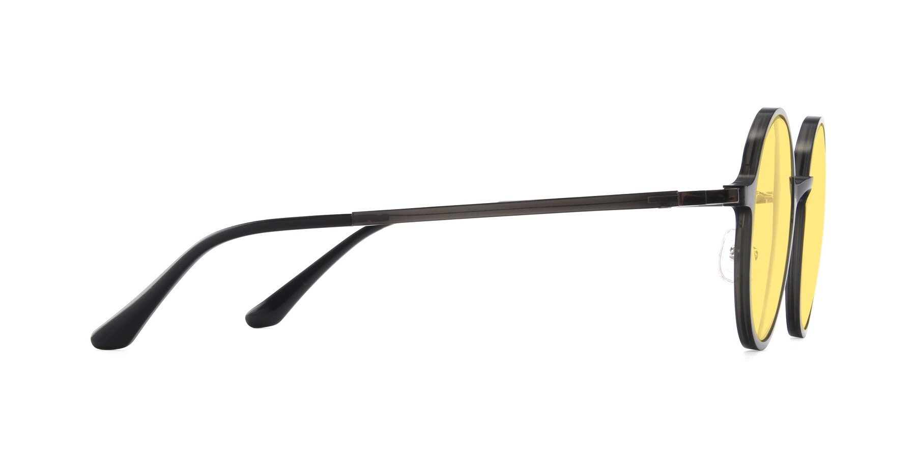 Side of Lemon in Transparent Gray with Medium Yellow Tinted Lenses