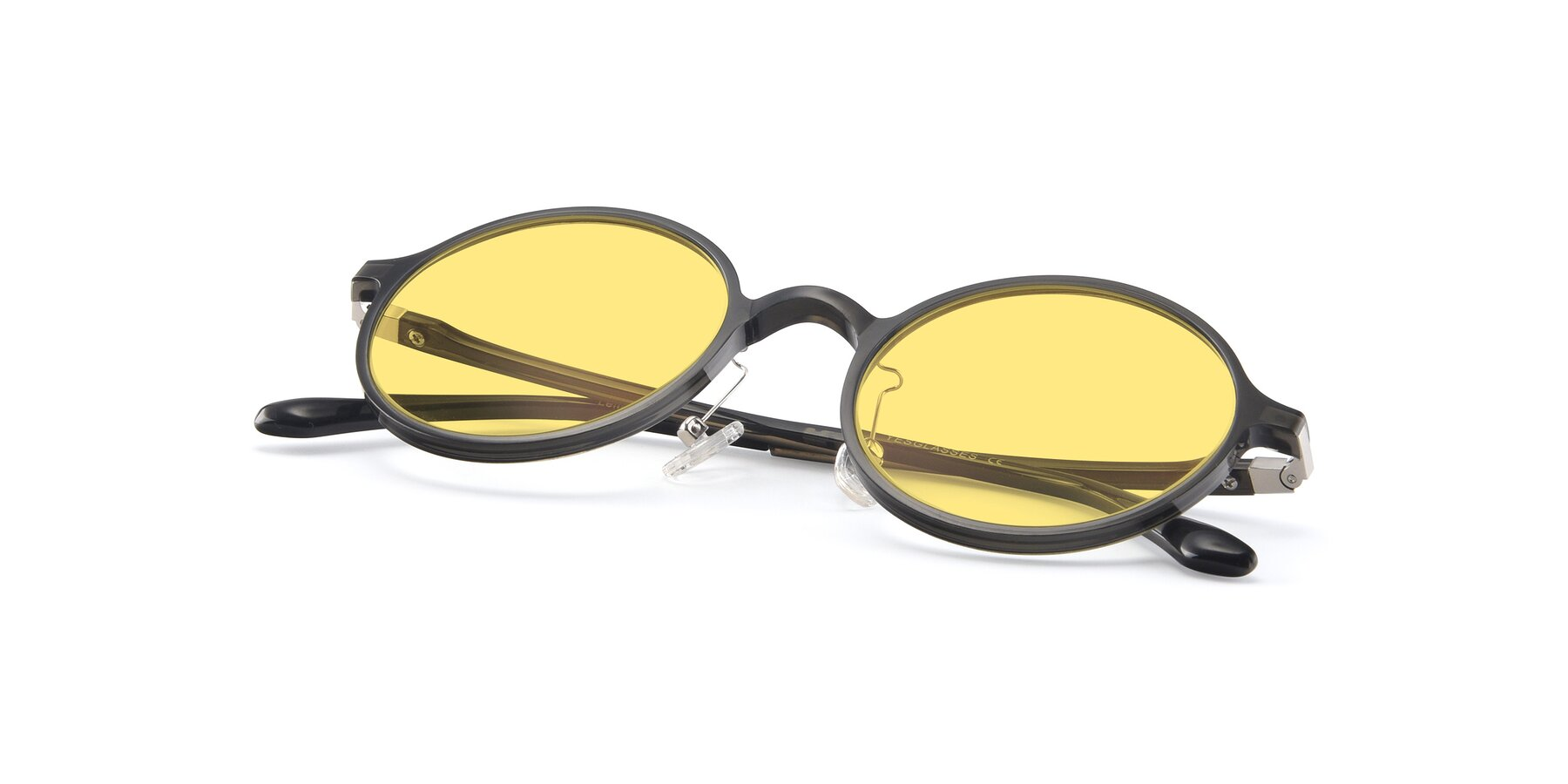 View of Lemon in Transparent Gray with Medium Yellow Tinted Lenses