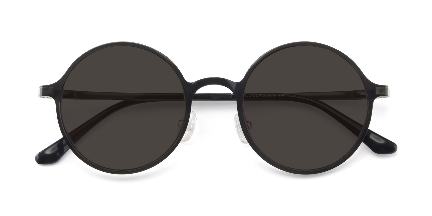 Folded Front of Lemon in Transparent Gray with Gray Tinted Lenses