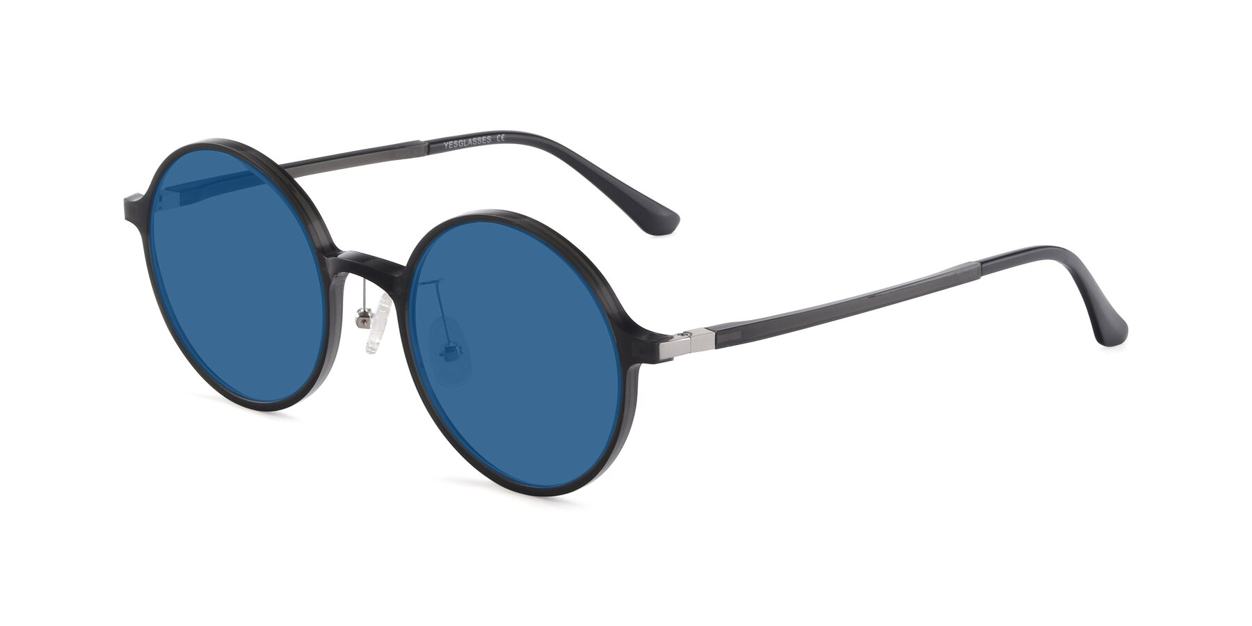 Angle of Lemon in Transparent Gray with Blue Tinted Lenses