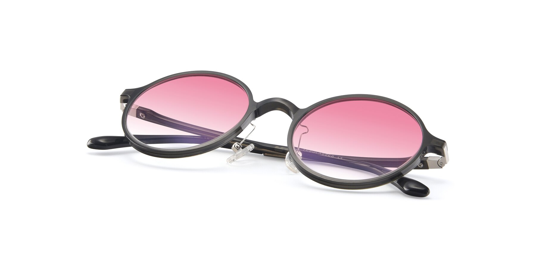 View of Lemon in Transparent Gray with Pink Gradient Lenses
