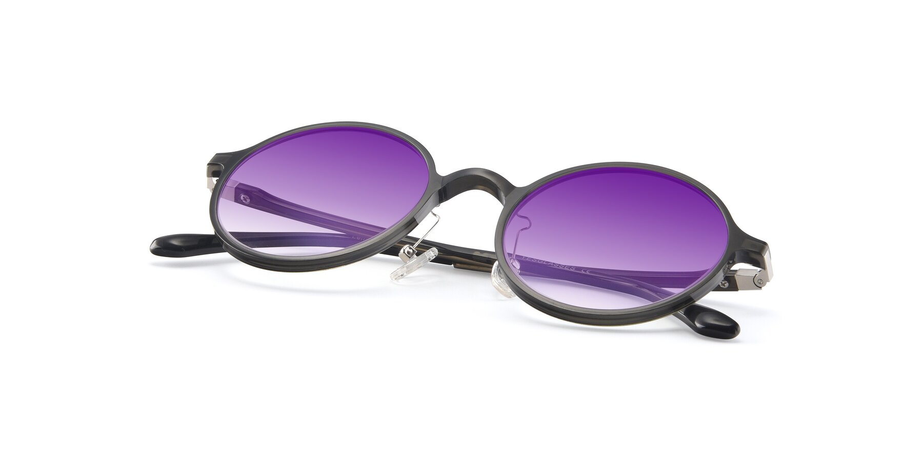 View of Lemon in Transparent Gray with Purple Gradient Lenses