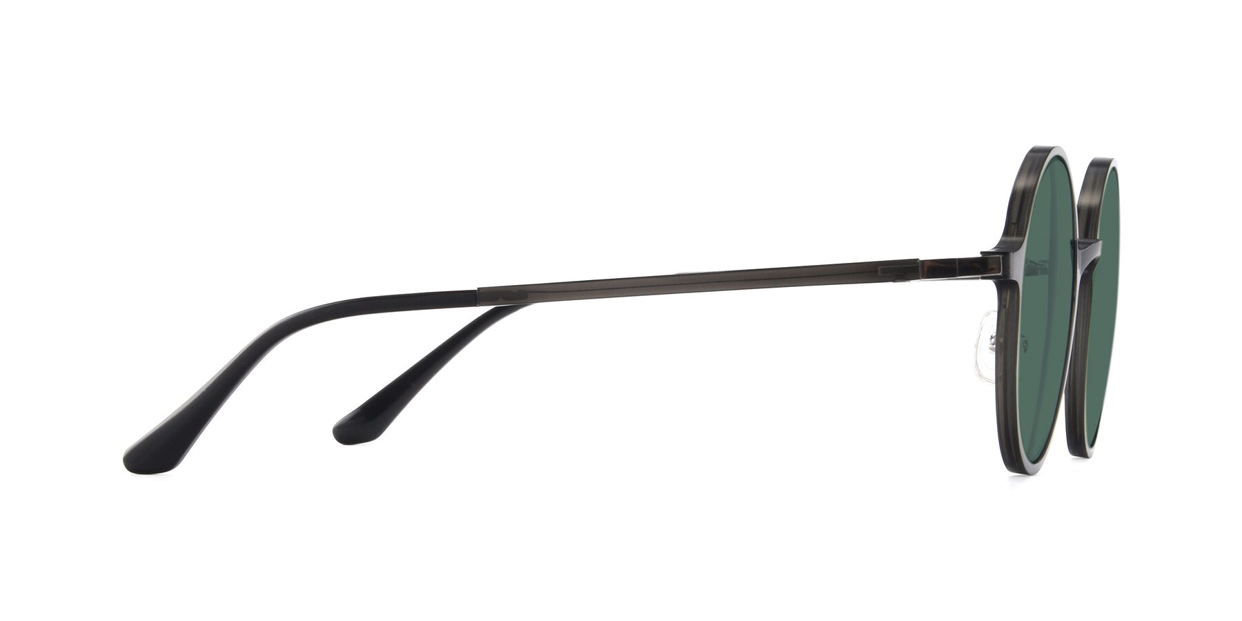 Side of Lemon in Transparent Gray with Green Polarized Lenses