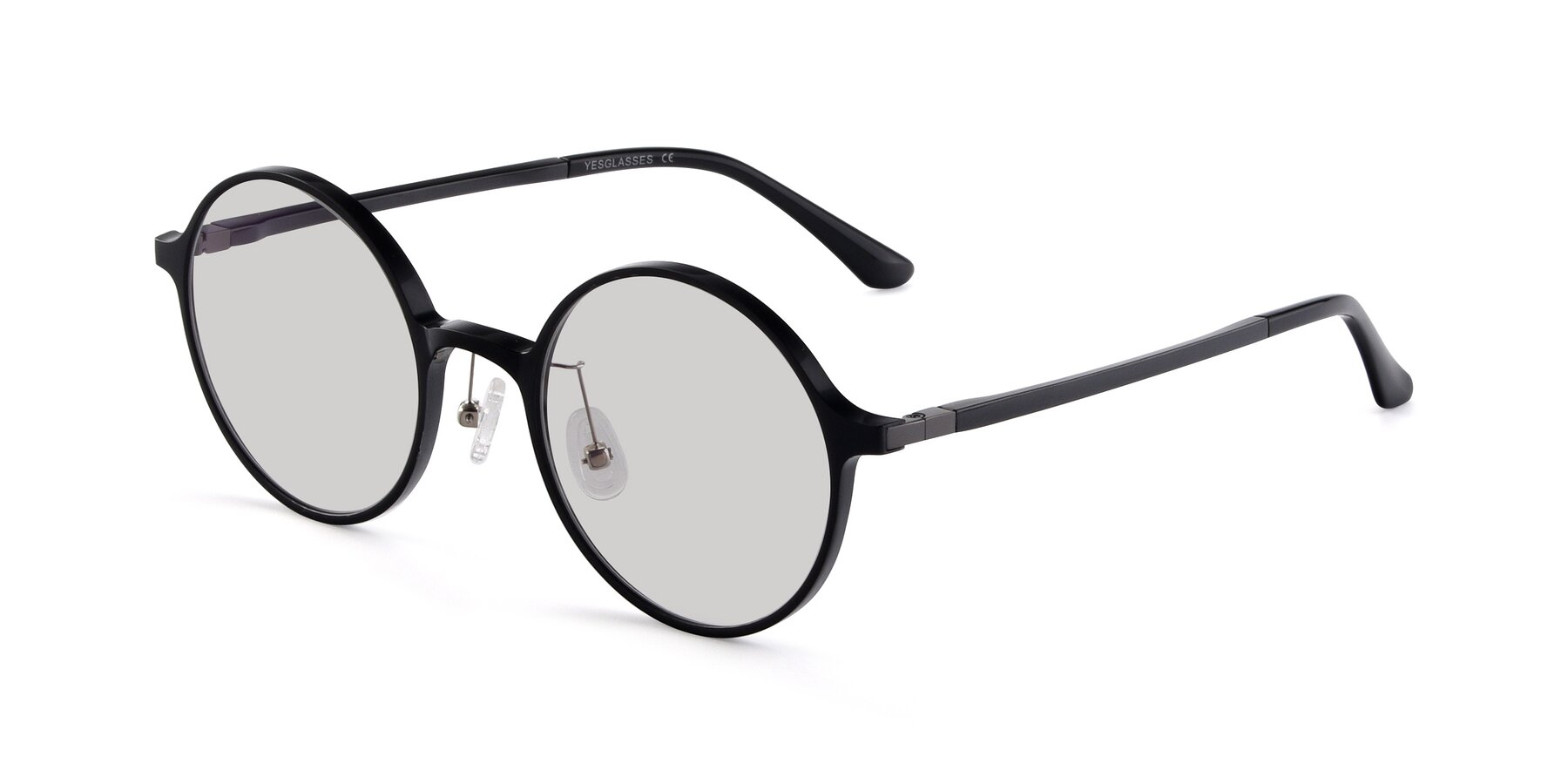 Angle of Lemon in Black with Light Gray Tinted Lenses