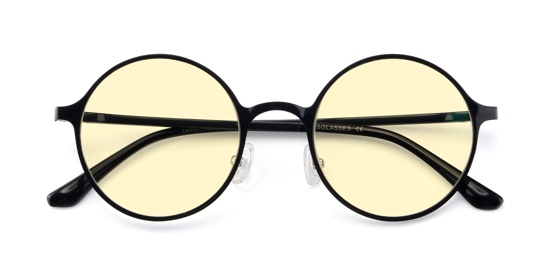 Folded Front of Lemon in Black with Light Yellow Tinted Lenses
