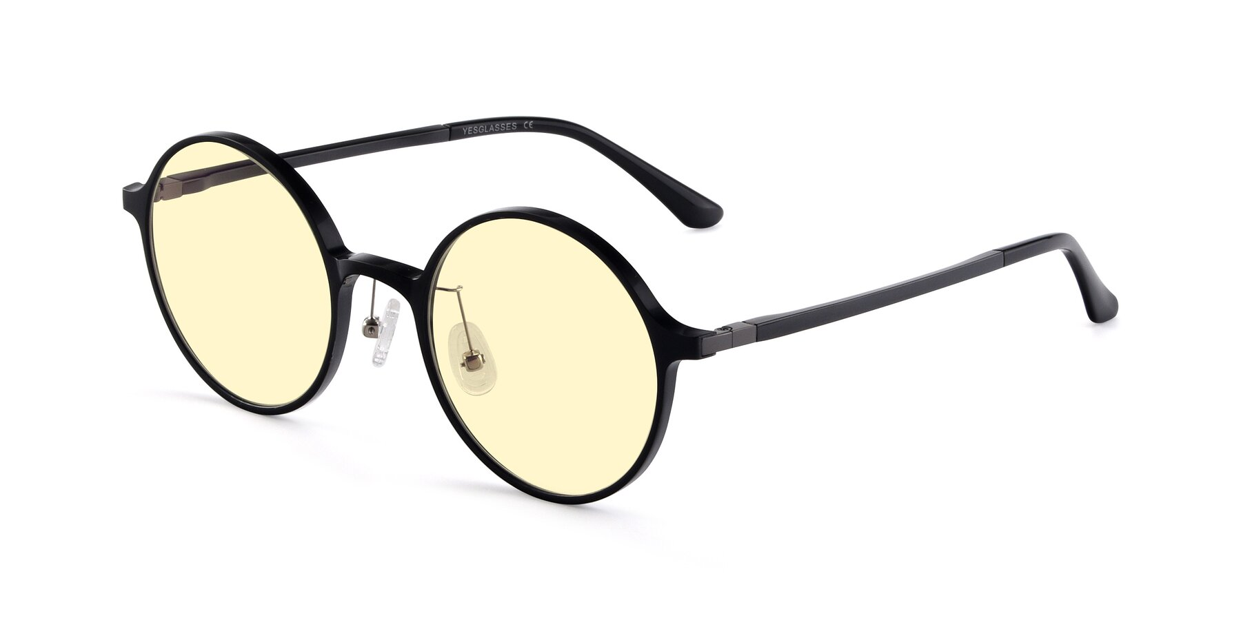 Angle of Lemon in Black with Light Yellow Tinted Lenses