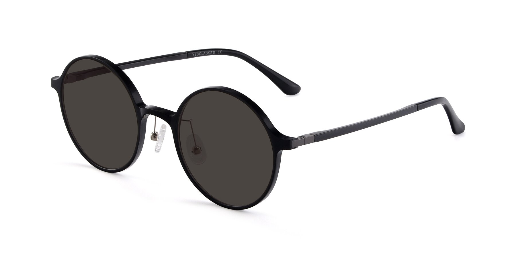 Angle of Lemon in Black with Gray Tinted Lenses