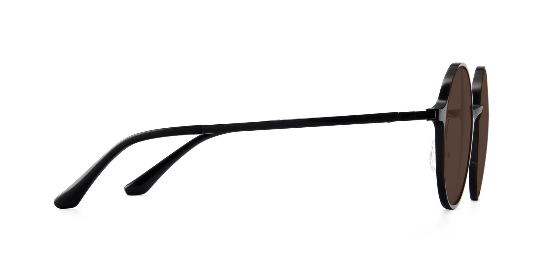 Side of Lemon in Black with Brown Tinted Lenses