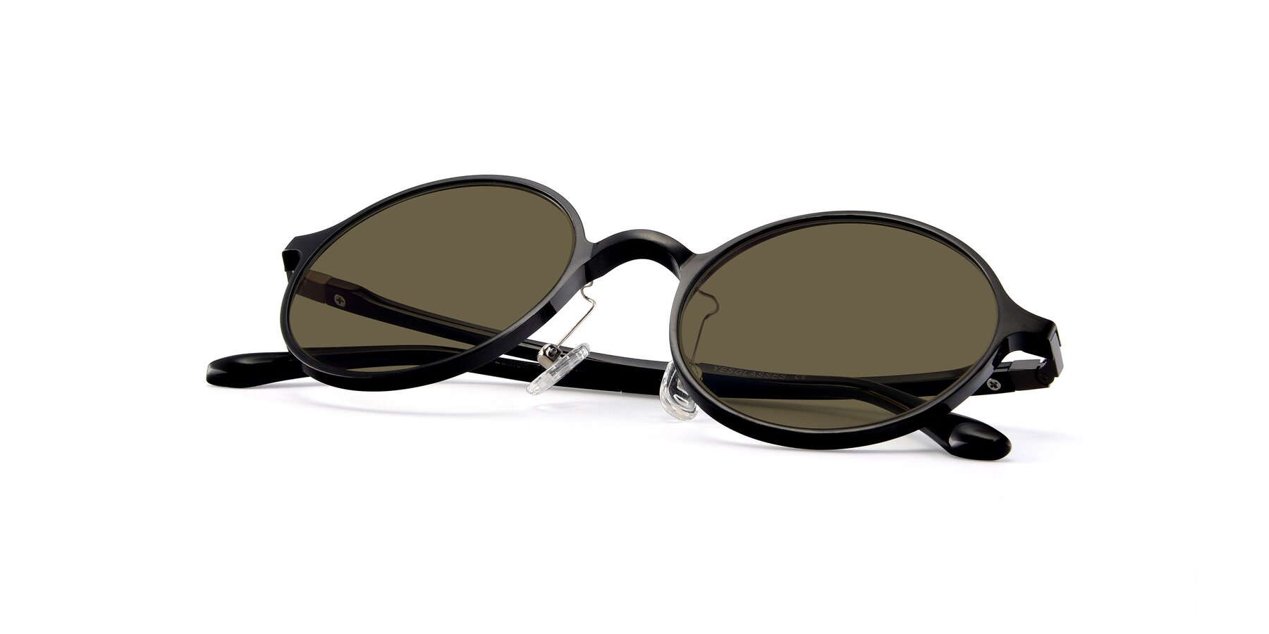 View of Lemon in Black with Brown Polarized Lenses