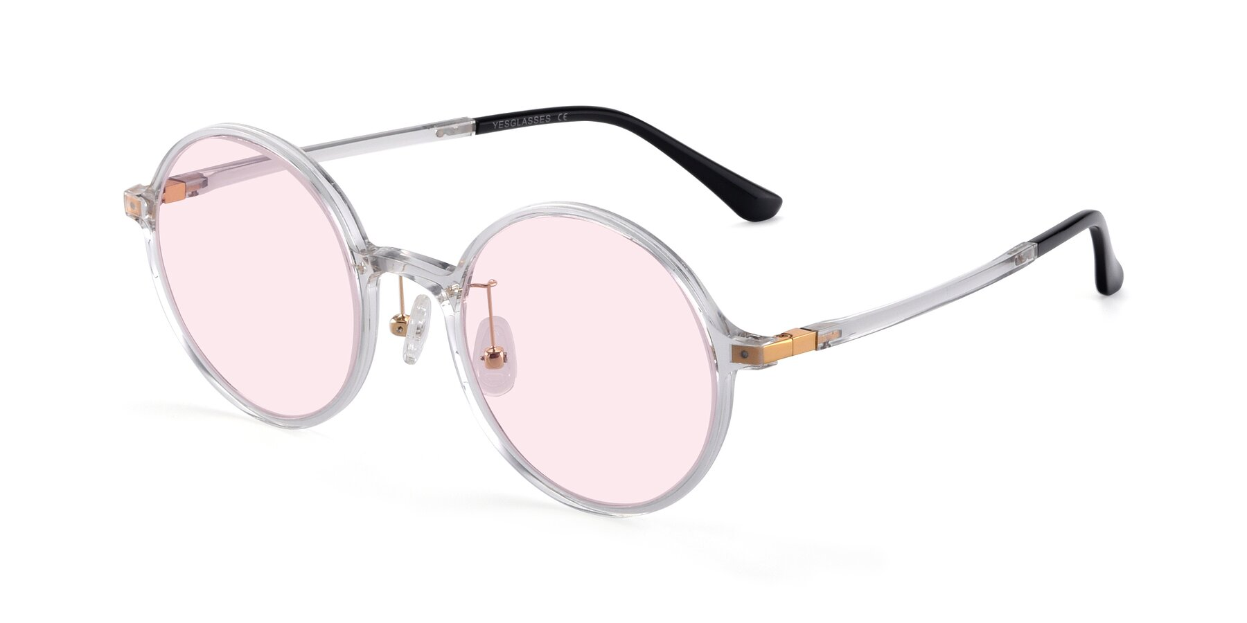 Angle of Lemon in Clear with Light Pink Tinted Lenses