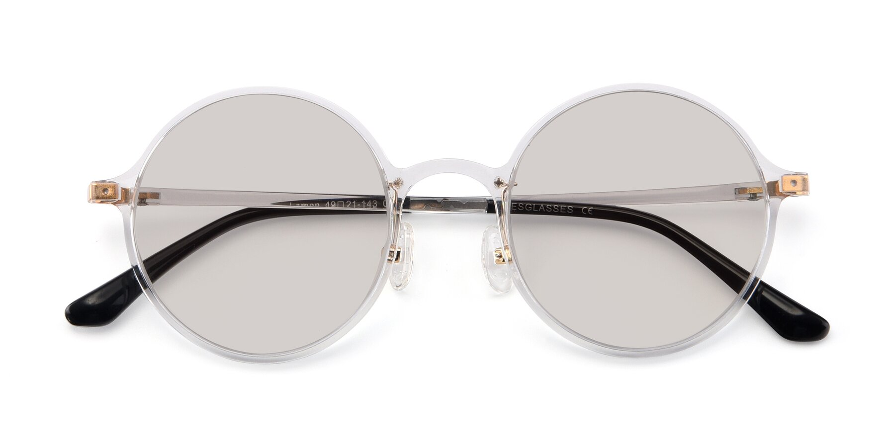 Folded Front of Lemon in Clear with Light Brown Tinted Lenses