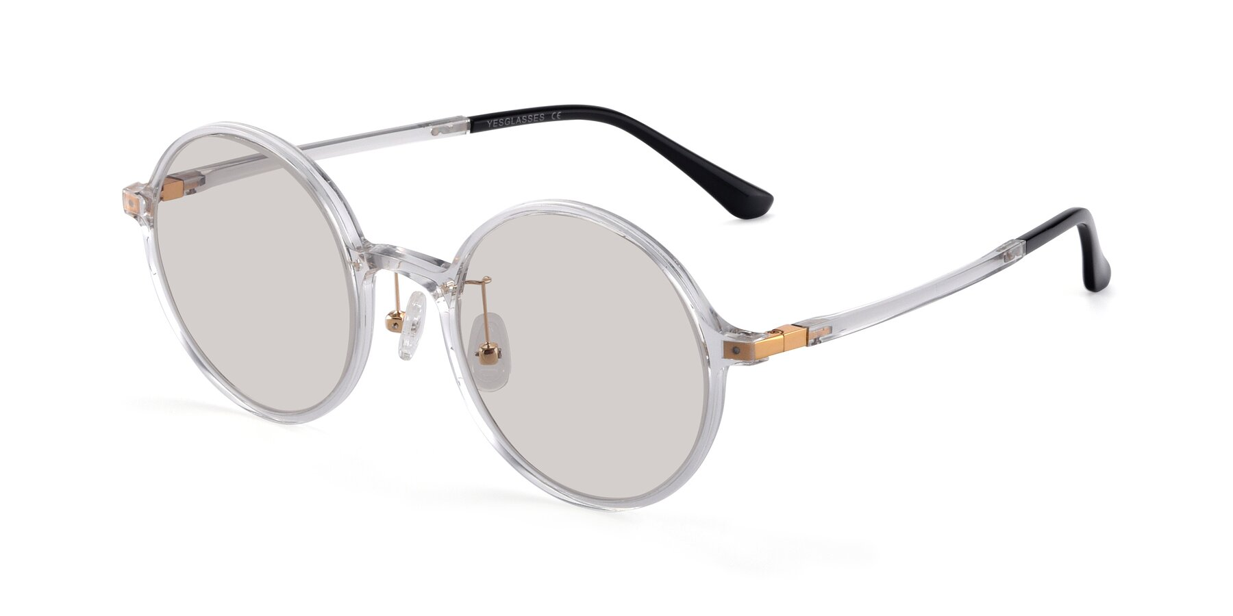 Angle of Lemon in Clear with Light Brown Tinted Lenses