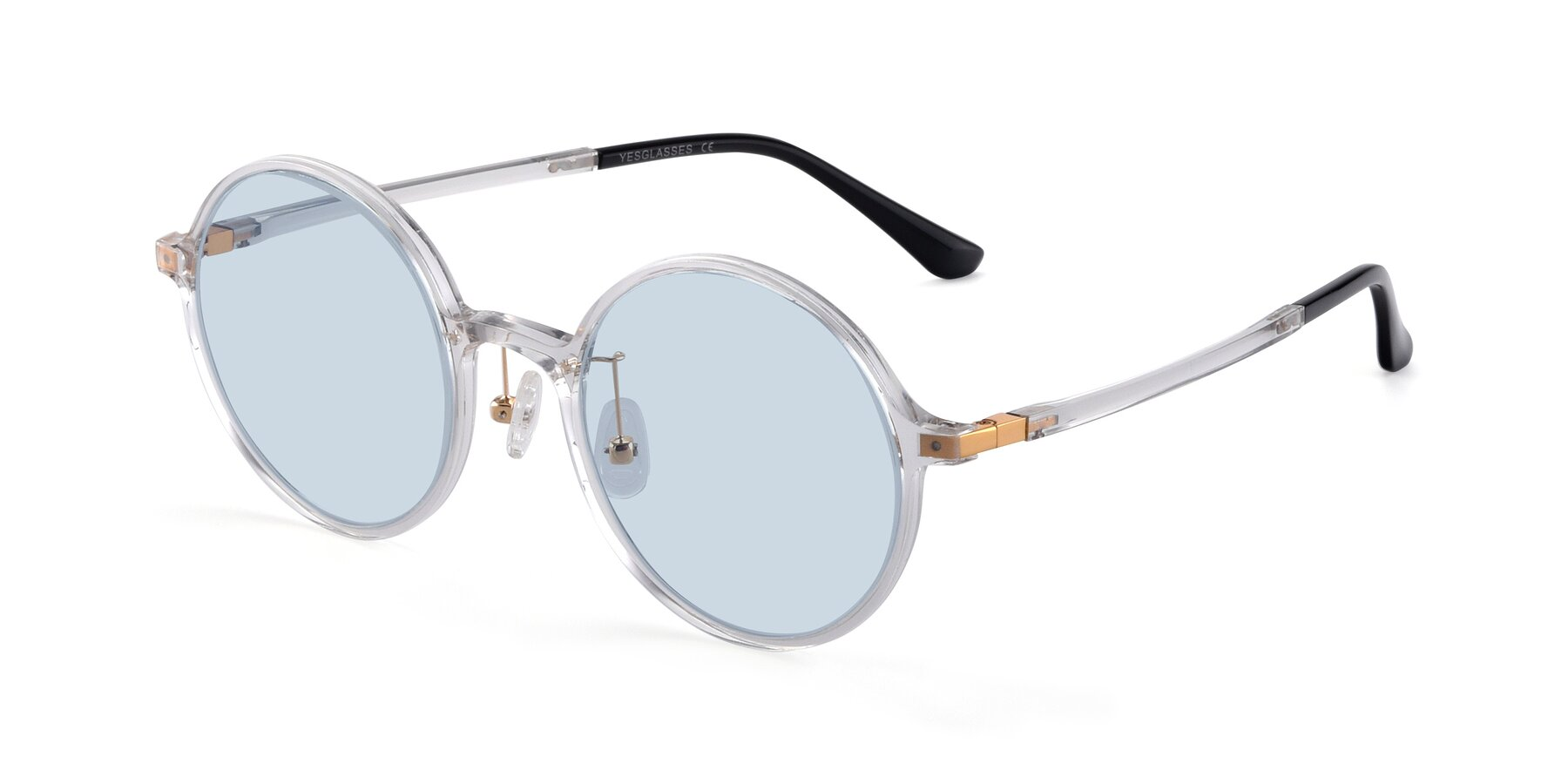 Angle of Lemon in Clear with Light Blue Tinted Lenses