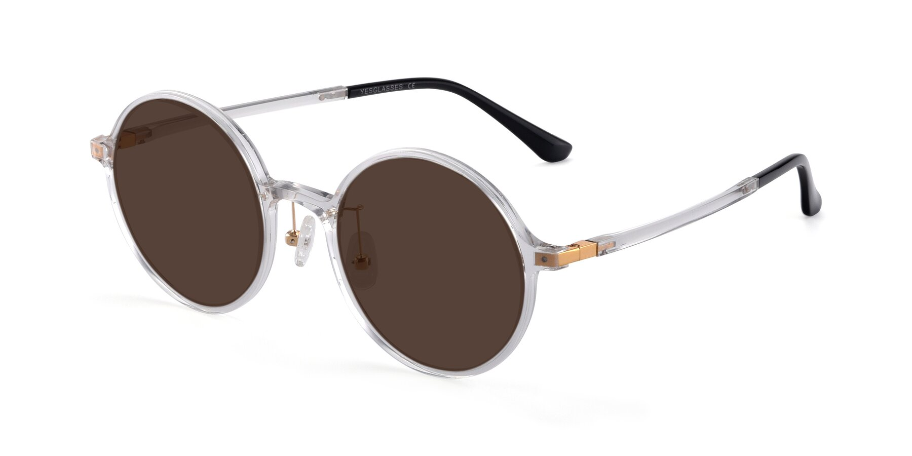 Angle of Lemon in Clear with Brown Tinted Lenses