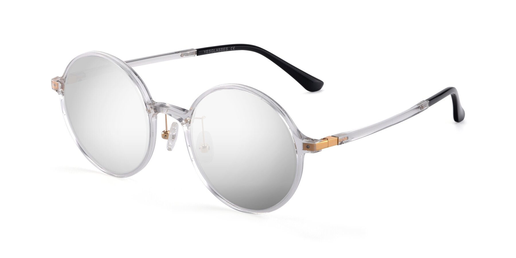 Angle of Lemon in Clear with Silver Mirrored Lenses