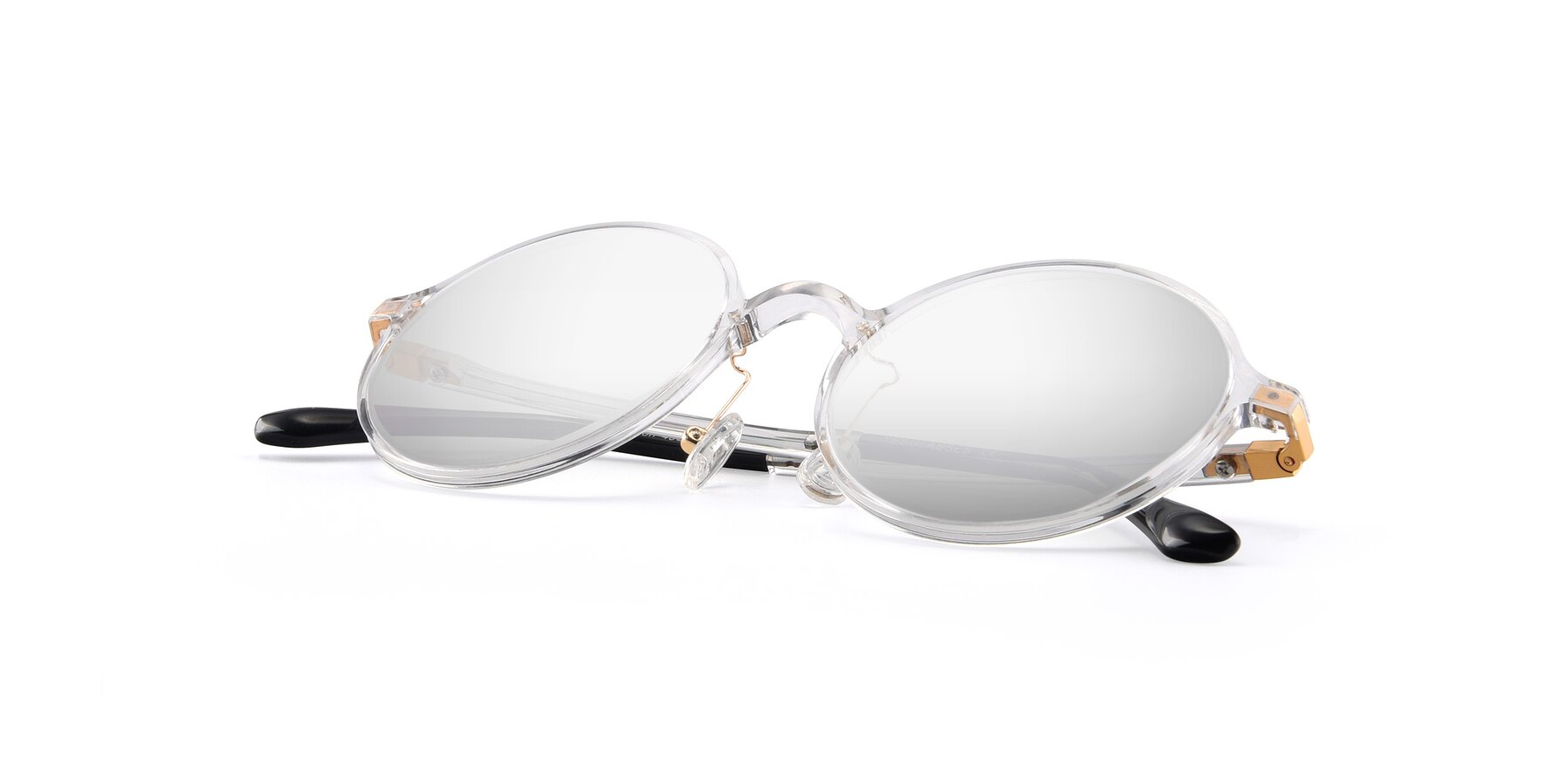 View of Lemon in Clear with Silver Mirrored Lenses