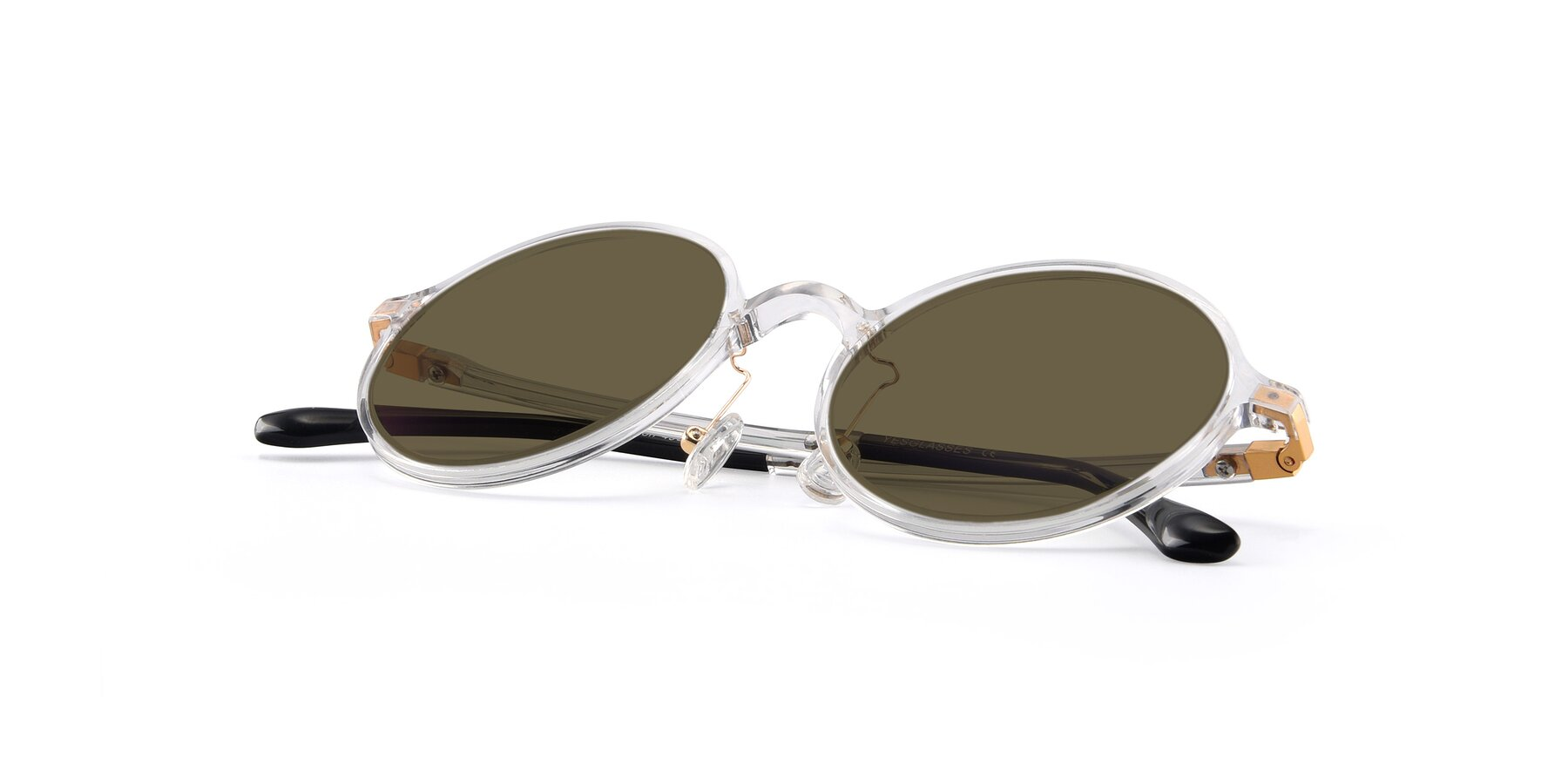 View of Lemon in Clear with Brown Polarized Lenses