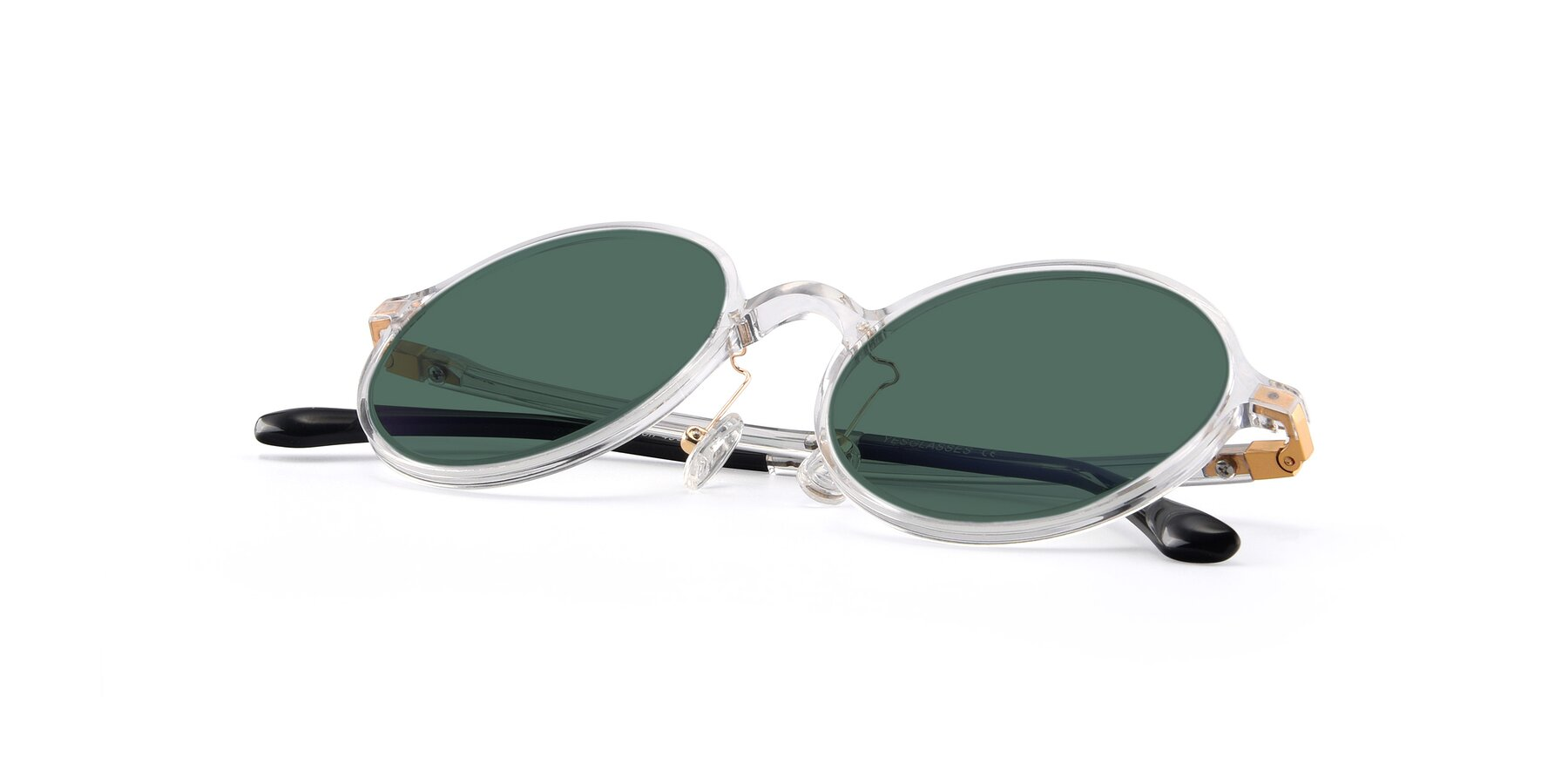View of Lemon in Clear with Green Polarized Lenses