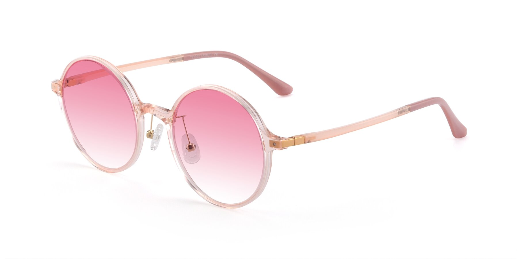 Angle of Lemon in Transparent Pink with Pink Gradient Lenses