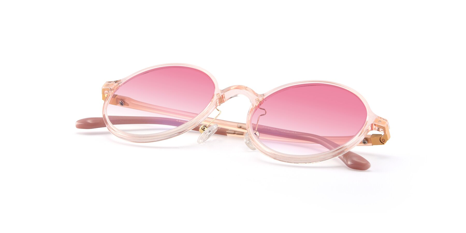 View of Lemon in Transparent Pink with Pink Gradient Lenses