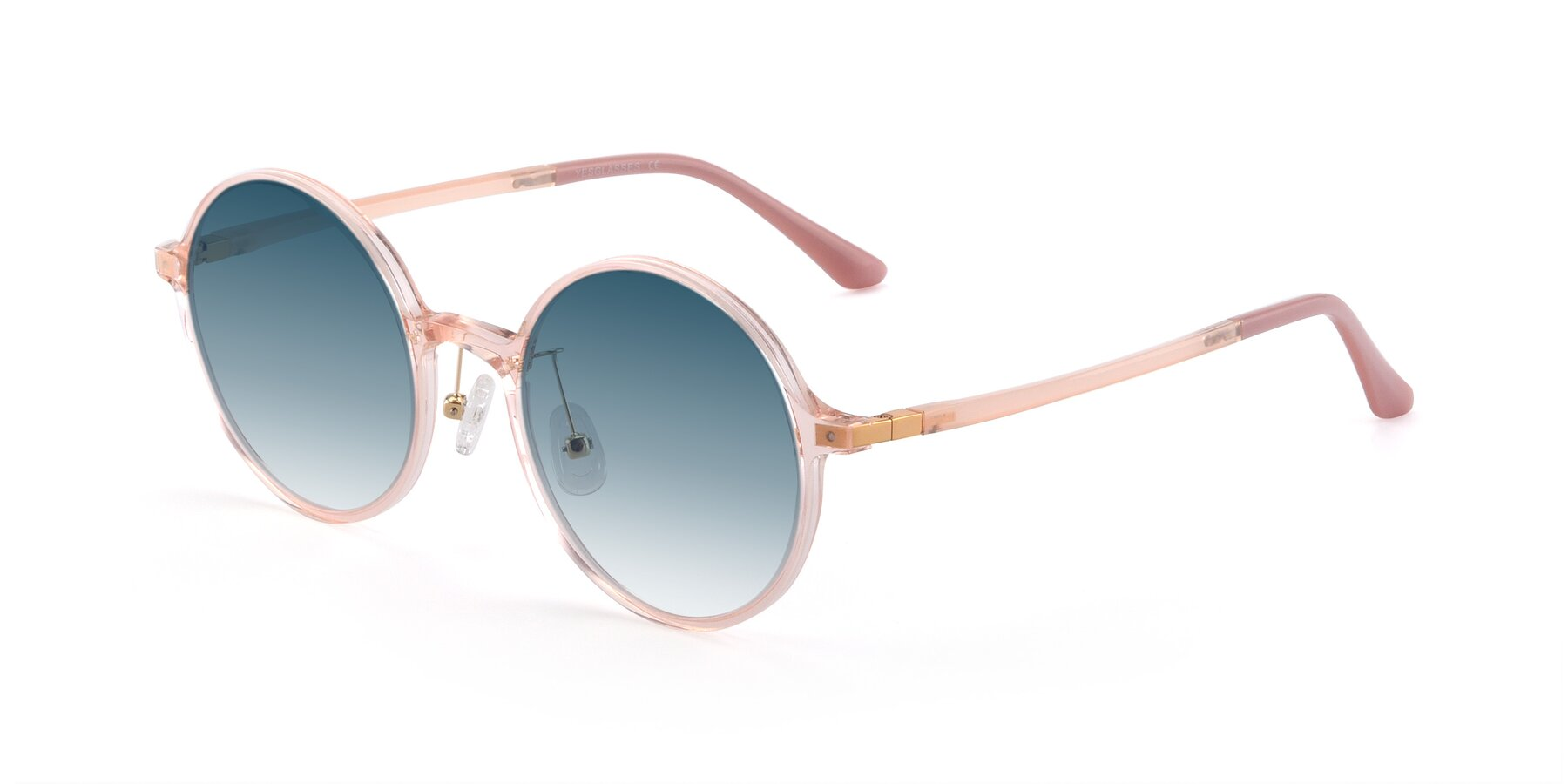 Angle of Lemon in Transparent Pink with Blue Gradient Lenses