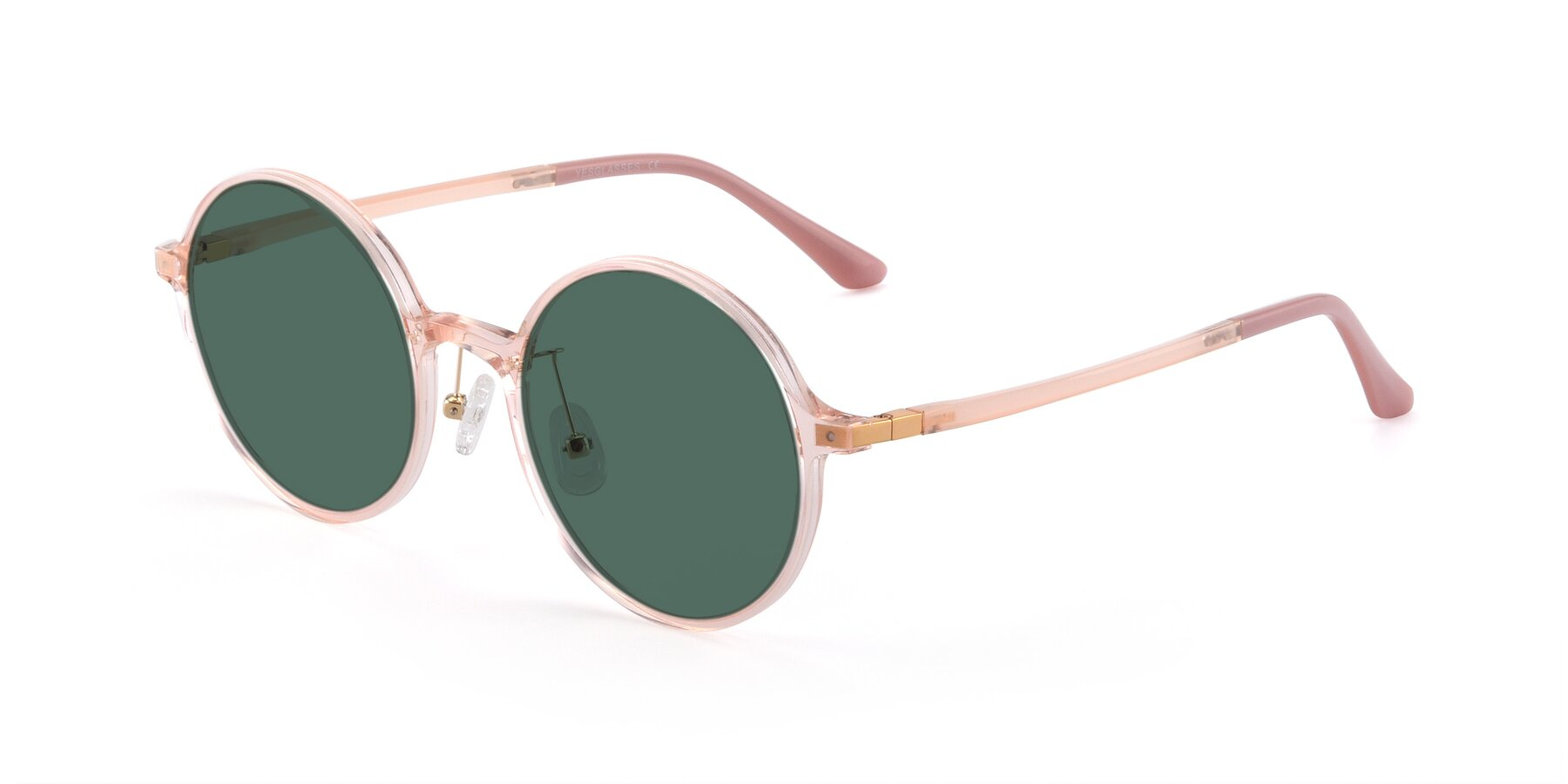 Angle of Lemon in Transparent Pink with Green Polarized Lenses