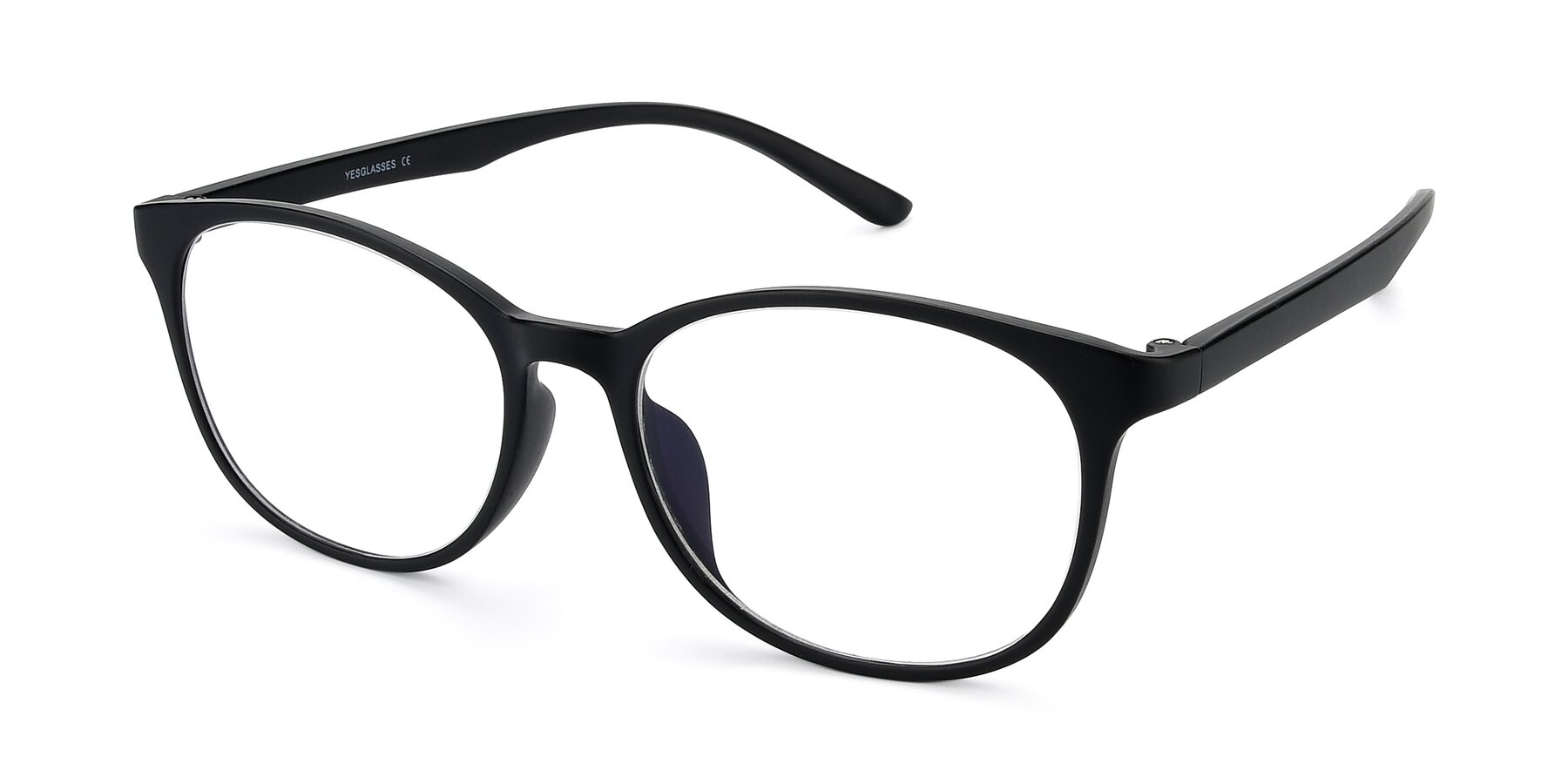Angle of MS-H10 in Matt Black with Clear Eyeglass Lenses