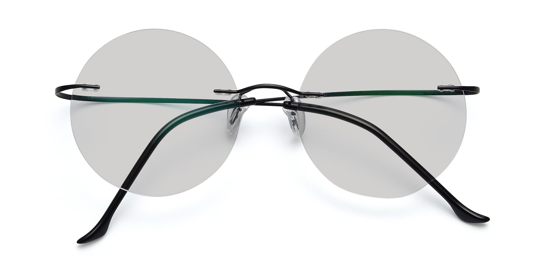 Folded Front of Artist in Black with Light Gray Tinted Lenses